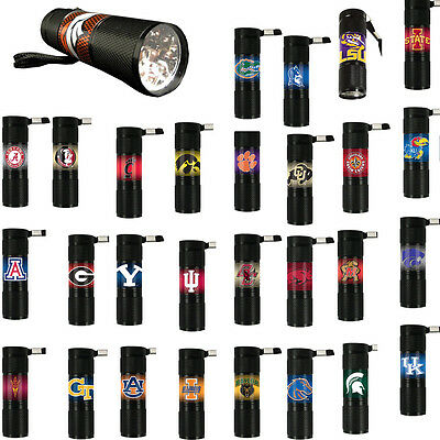 NCAA University College Licensed Sports Teams 9x LED Water Resistant Flashlight