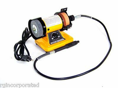 """3"""" Mini Bench Grinder With Rotary Flexible Shaft Die Carving polisher set"""