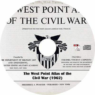 1962 West Point Atlas of the Civil War {1861-1865} ~ American Maps Book on CD