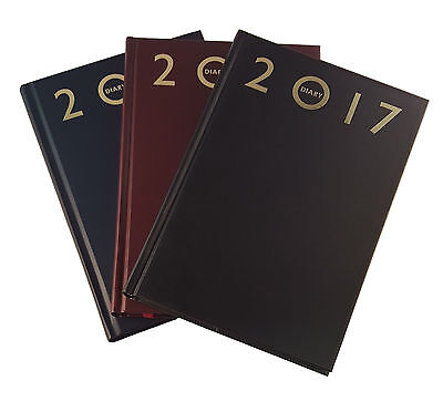 2017 Diary  A4 / A5 / A6 Page A Day/week To View Hard Back Planners