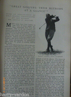 Antique Golf Great Golfers Their Methods at a Glance Vardon Photo Article 1904