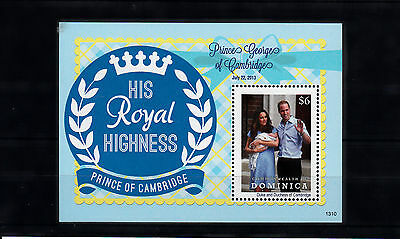 Dominica Commonwealth 2013 MNH Birth Prince George Royal Baby 1v SS William Kate