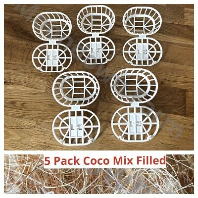5 Pk Nesting Material Holders Jute Mix Filled For Cage Aviary Finches,Canaries