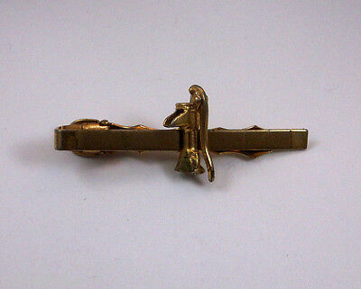 Water Well Hand Pump Handle Moves Up & Down Gold Tone Vintage Tie Bar Clip dd-13