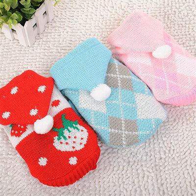 Small Pet Dog Winter Clothes Puppy Knitwear Costume Coat Apparel Jumper Sweater