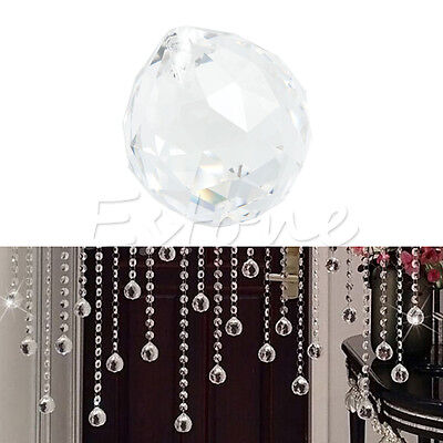 1 Clear Crystal Ball Lamp Prism Rainbow Sun Catcher Wedding Decor Home 40mm