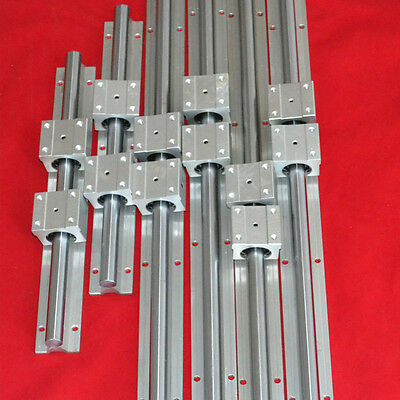 Support Linear Bearing Rail Sbr16-380/880/1400Mm 6 Rails +12 Blocks For Cnc