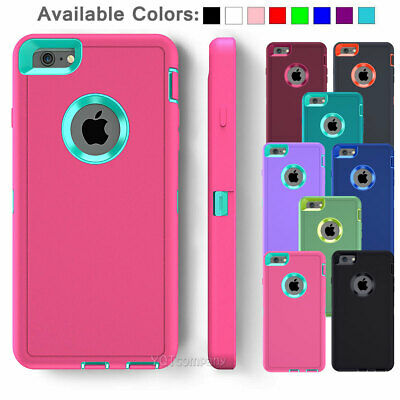 For Apple iPhone 5C 5S SE 6S Plus Hybrid Shockproof Armor Rugged Hard Case Cover