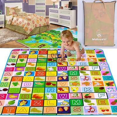 1.8x2M Thicken Playing Carpet Puzzle Pad Baby Waterproof Crawl Mat Soft TXST