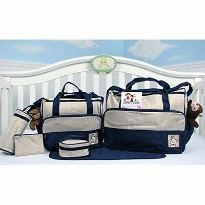 Diaper bag Baby Nappy Mummy Changing Pad 8 pieces set New Diapers Handbag Travel