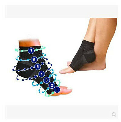 2Pairs Foot Angel 4Sleeve Anti Fatigue Compression Ankle Swelling Plantar Relief