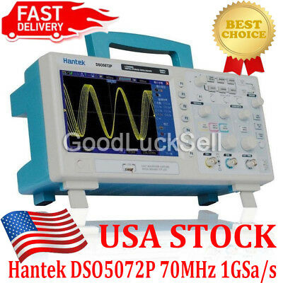 Hantek DSO5072P Digital Oscilloscope 70MHz 2Channels 1GS/s 7'' TFT WVGA UPS FREE