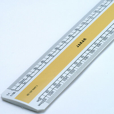 "Jakar Metric Flat (Oval) Scale Rule 15cm 6"" or 30cm 12"" - Draughtmans Architects"