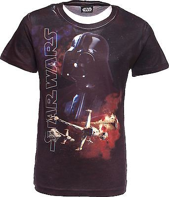 Official   STAR WARS   3D T-Shirt   The Force Awakens   Darth Vadar   Age 11-12