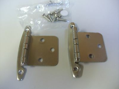 Qty of 12 pkgs.Liberty Cabinet Hinges Overlay Hinges Without Spring H01010C-SN-0