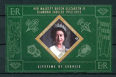 St Lucia 2012 MNH Diamond Jubilee 1v Sheet Queen Elizabeth II Lifetime Service