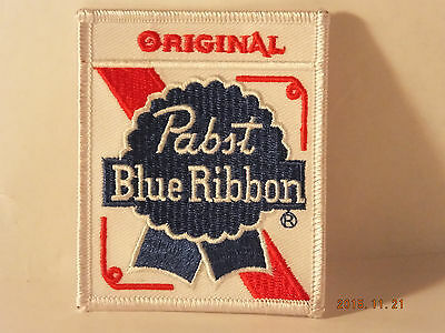 PBR Original PABST BLUE RIBBON BEER  EMBROIDERED IRON-ON PATCH