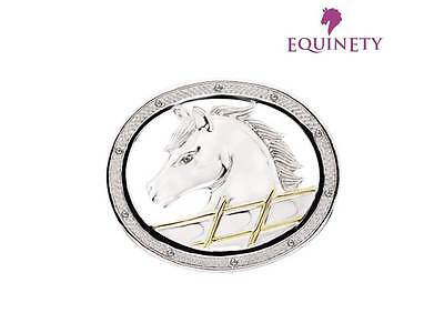 EquinEty Sterling Silver Diamond Horse Pony Brooch Pin Equestrian Jewellery Gift