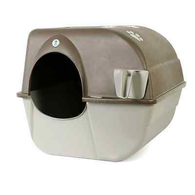 Omega Paw Self Cleaning No Mess Litter Box, Pewter, Cat Kitty Kitten Privacy New