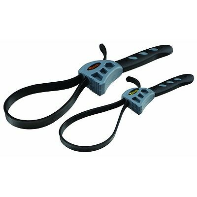 2 Pc Rubber Strap Wrench Set