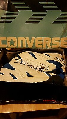 Vintage NOS White and Royal Converse Infero Athletic Shoes size 8