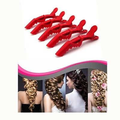 10pcs Hair Section Alligator Clamp Clip Crocodile For Hairdressing Salon Styling