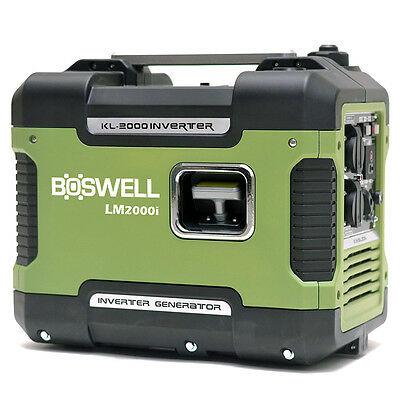 Boswell 2KVA Max / 1.6KVA Rated Inverter Generator Camping Portable Sinewave