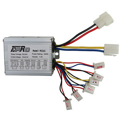 NEW 24V 500W motor brush controller for Electric bicycle & scooter e-bike