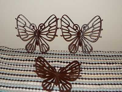 Vintage Burwood Brown Butterfly Set of 3 Home Interiors/Homco