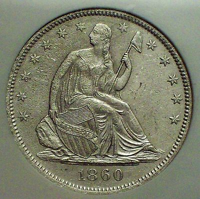 1860 O SILVER Half Dollar NGC SHIPWRECK EFFECT SS Republic UNITED STATES ISSUE