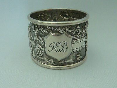 Antique / Vintage Chinese solid silver figural napkin ring - TC