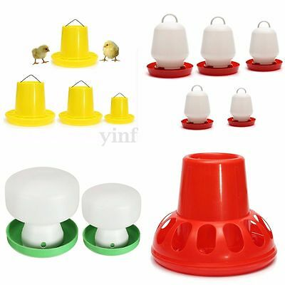 Variety Poultry Chicken Hen Fowl Feed Drinkers Birds Feeder Water Drinking Cups