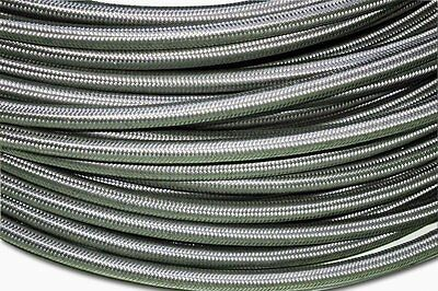 "-4 AN 4 AN4 1/4"" 6mm Stainless Steel Braided Fuel Oil Line Pipe Hose - 3FT"