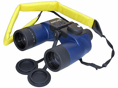 WATERPROOF FLOATING BINOCULARS W/ILLUMINATED COMPASS FOR BOAT - FIVE OCEANS 50 x
