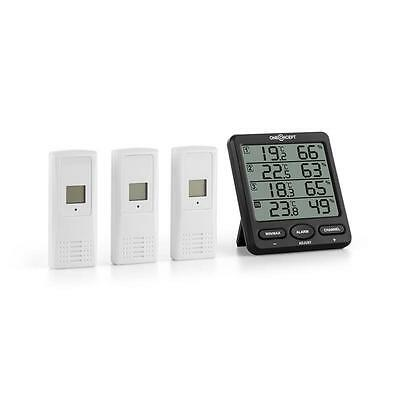 WIRELESS WEATHER STATION BATTERY OPERATED 3x OUTDOOR SENSORS * FREE P&P UK OFFER