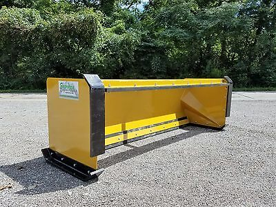 8' pullback snow pusher with front shoes FREE SHIPPING skid steer Bobcat Case