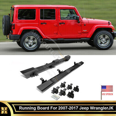 2 pcs ABS OE Style Side Step Running Board For 2007-2017 Jeep Wrangler JK 4 DR
