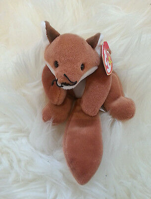 TY Beanie Baby Sly the Fox - 100% Authentic and BRAND NEW WITH TAGS! 1996Retired