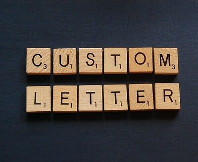 10 x Custom Personalised Wooden Scrabble Tiles  - Choose Your Own Letters