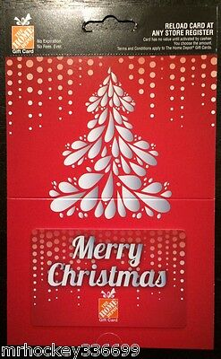 The Home Depot Canada Merry Christmas Tree Collectible Gift Card No Cash Value