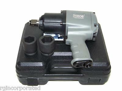 "3/4"" Drive Air Impact Wrench Twin Hammer 1250 ft/lb max torque  2 sockets H D"