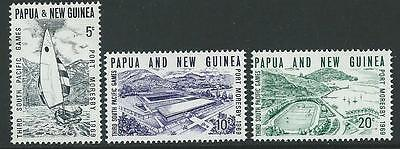 Papua New Guinea Sg156/8 1969 South Pacific Games   Mtd Mint