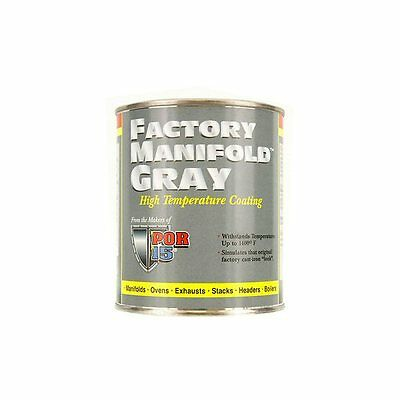 POR-15 44216 Factory Gray High Temp Up To 1200 Degrees Paint - 8oz Can