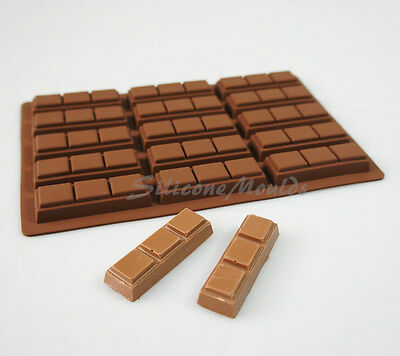 15 cell 3 Chunk Section Chocolate Bar 21g Candy Professional Silicone Mould N080