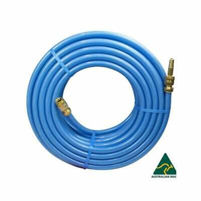 "50M Blue Durable & Flexible Garden Hose With 18MM 3/4""  Brass Fittings KINK FREE"