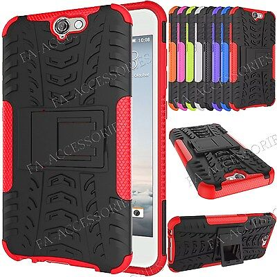 Shock Proof Rigid Workman Hybrid Armour Gel Protective Stand Case For HTC A9