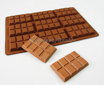 9 cell 8 Section Chocolate Bar 43g Candy Professional Silicone Mould Mold N078