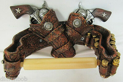 Western Style Six Shooter Toilet Paper Holder