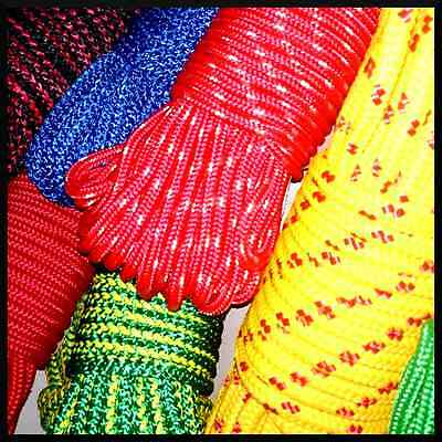 5 mm PolyPropylene Rope Braided Cord Wire Twine Strand Strong String Line Sport