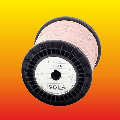 60 x 0.04 mm (60/46) LOT OF 5 m (16.4 feet) ISOLA LITZ WIRE